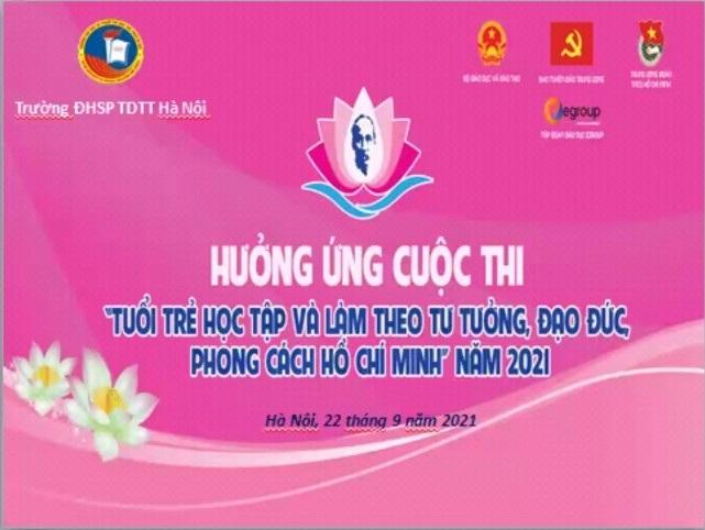 Đoàn TN phát động hưởng ứng cuộc thi tuổi trẻ học tập và làm theo tư tưởng, đạo đức, phong cách Hồ Chí Minh