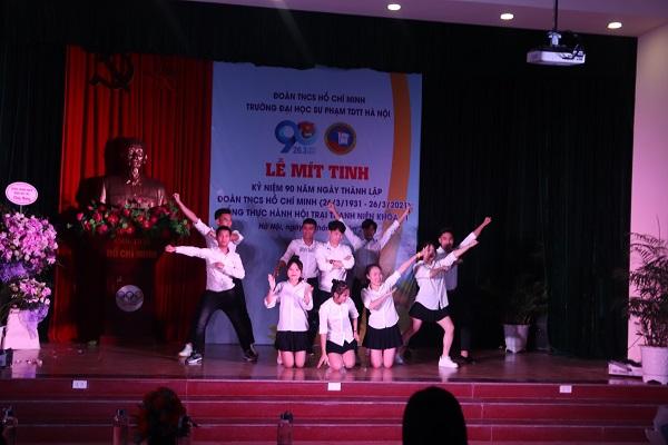 Mít tinh chào mừng kỷ niệm 90 năm ngày thành  lập Đoàn TNCS Hồ Chí Minh (26/3/1931 -26/3/2021)